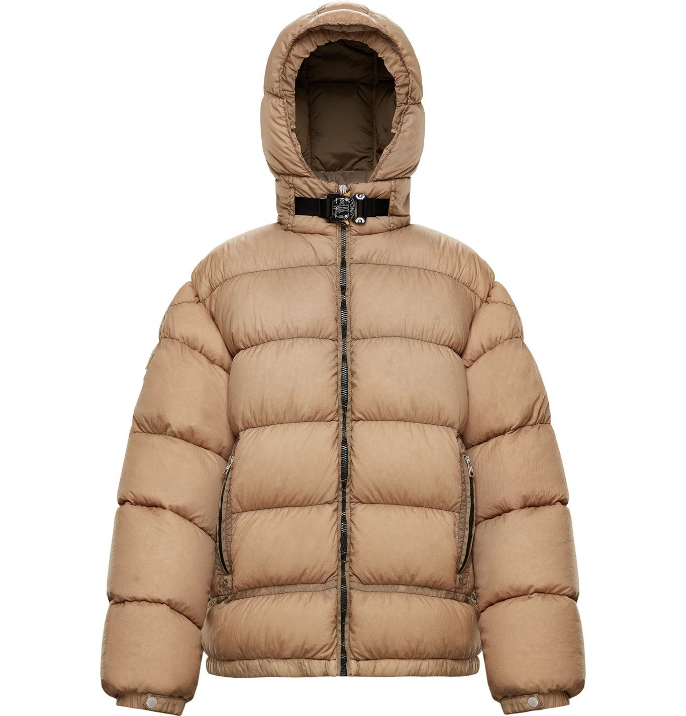 Photo: Moncler Genius - 6 Moncler 1017 ALYX 9SM Quilted Nylon Hooded Down Jacket - Neutrals
