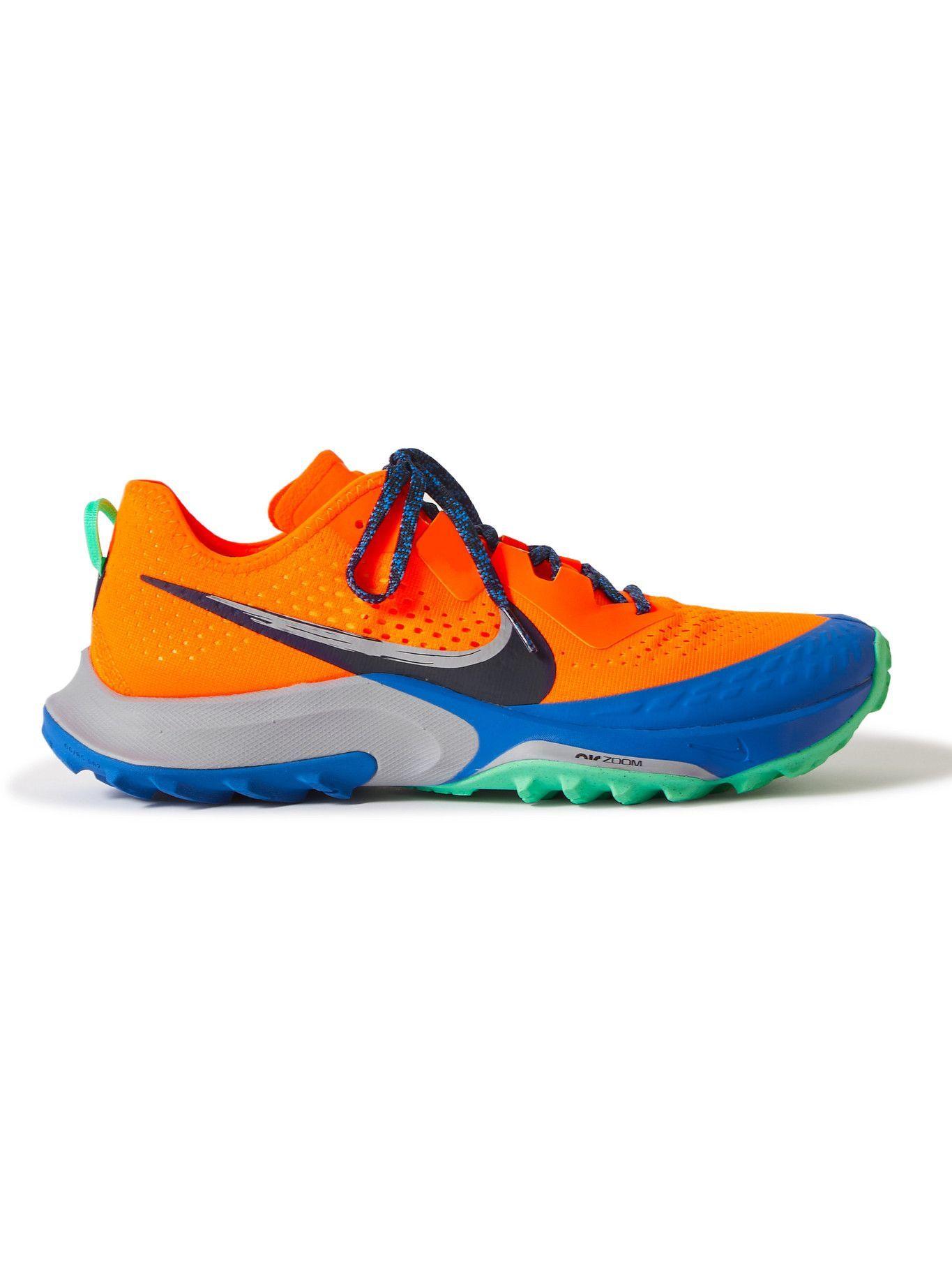 Photo: Nike Running - Air Zoom Terra Kiger 7 Rubber-Trimmed Mesh Running Sneakers - Orange