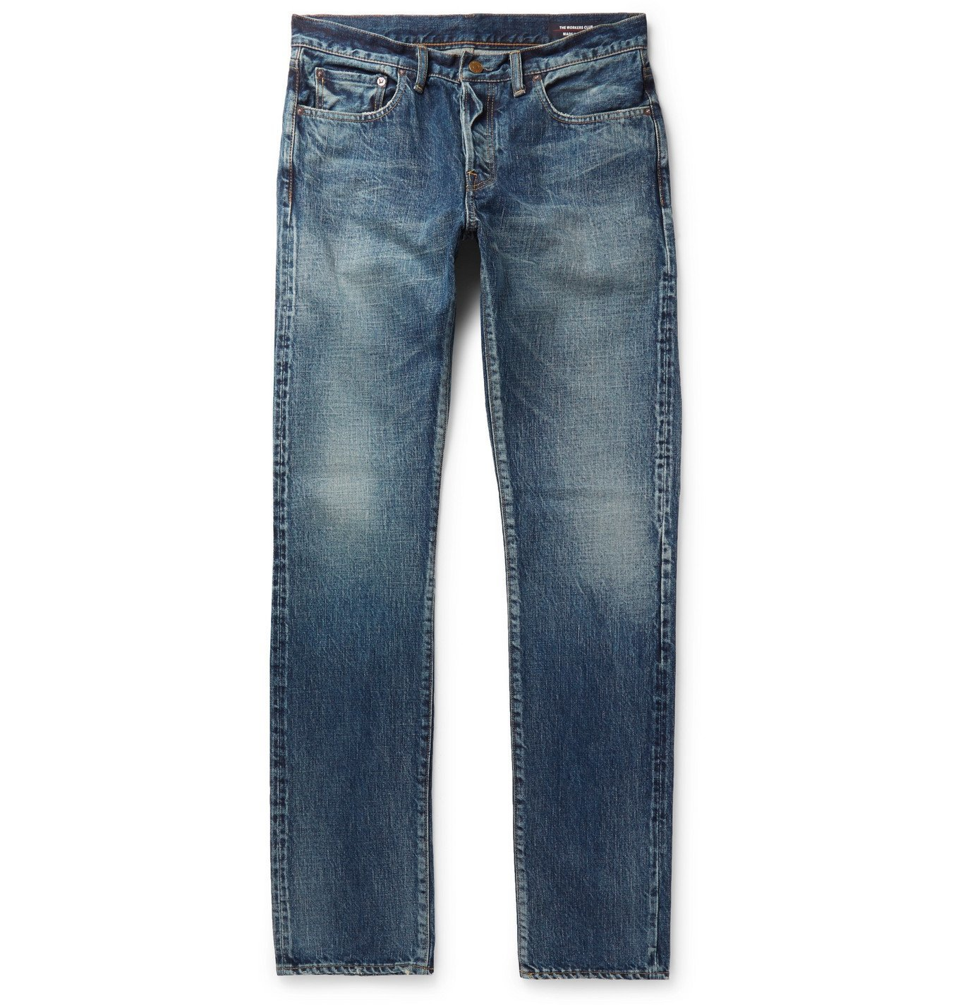 Photo: The Workers Club - Slim-Fit Selvedge Denim Jeans - Blue