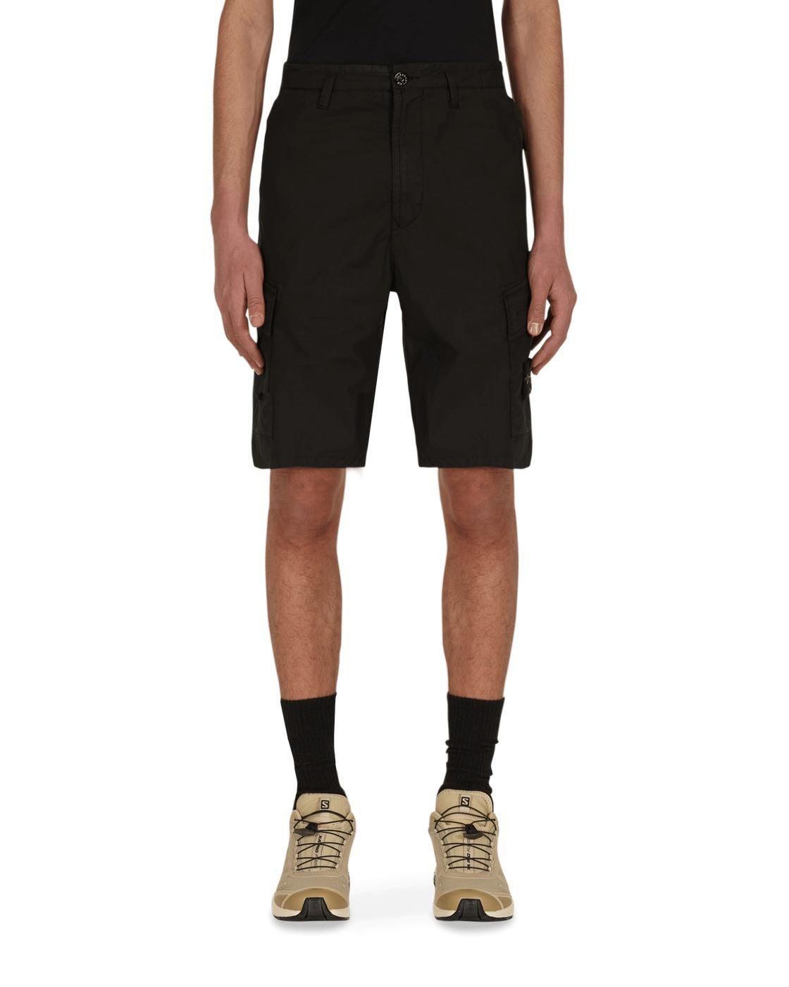 Stone Island Cargo Shorts Black