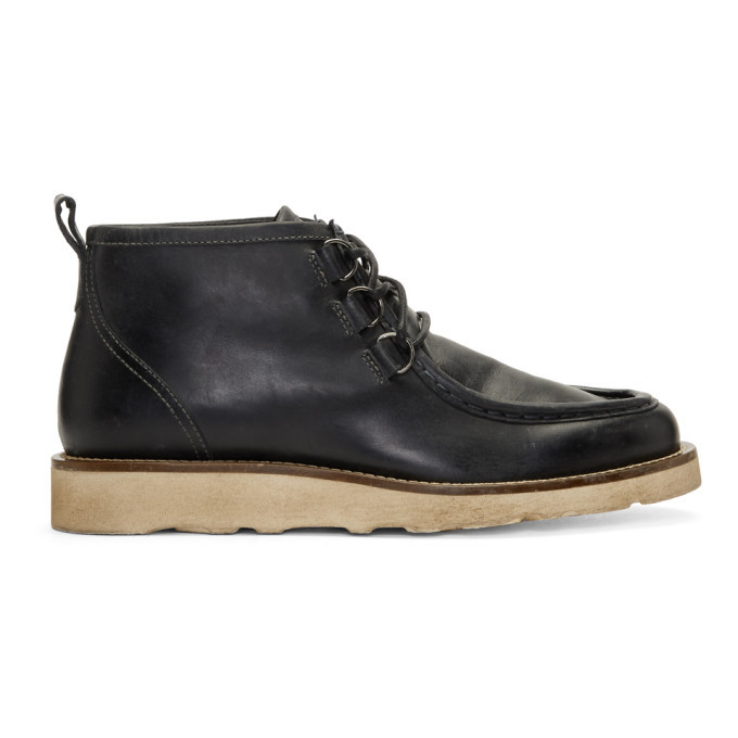 Photo: Belstaff Black Macclesfield Lace-Up Boots
