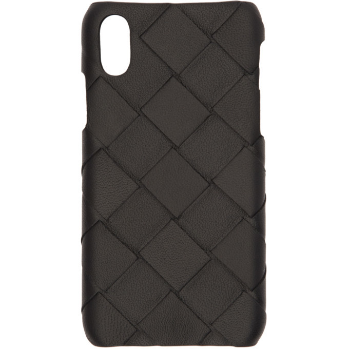 Photo: Bottega Veneta Black Intrecciato Max Weave iPhone X/XS Case