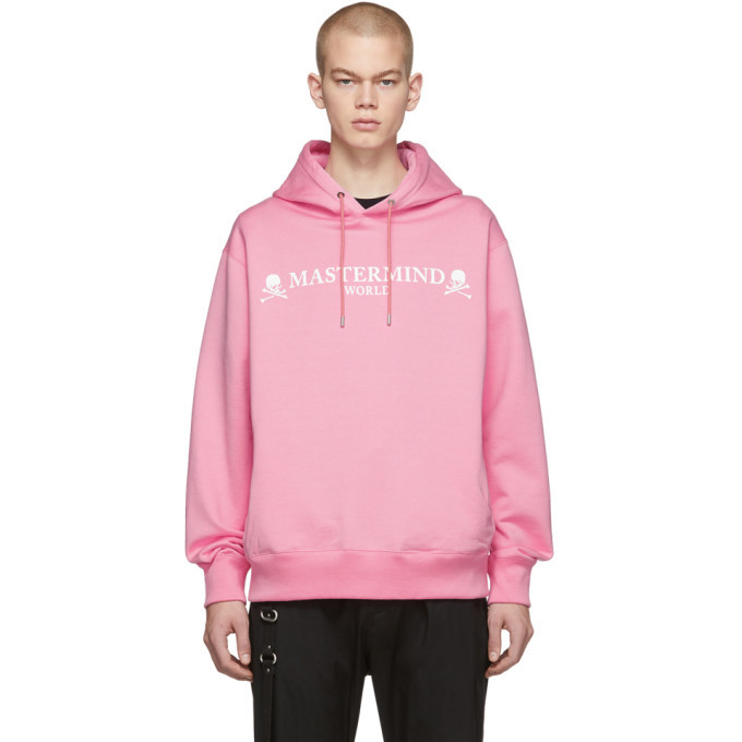 Photo: mastermind WORLD Pink Boxy Reflective Logo Hoodie