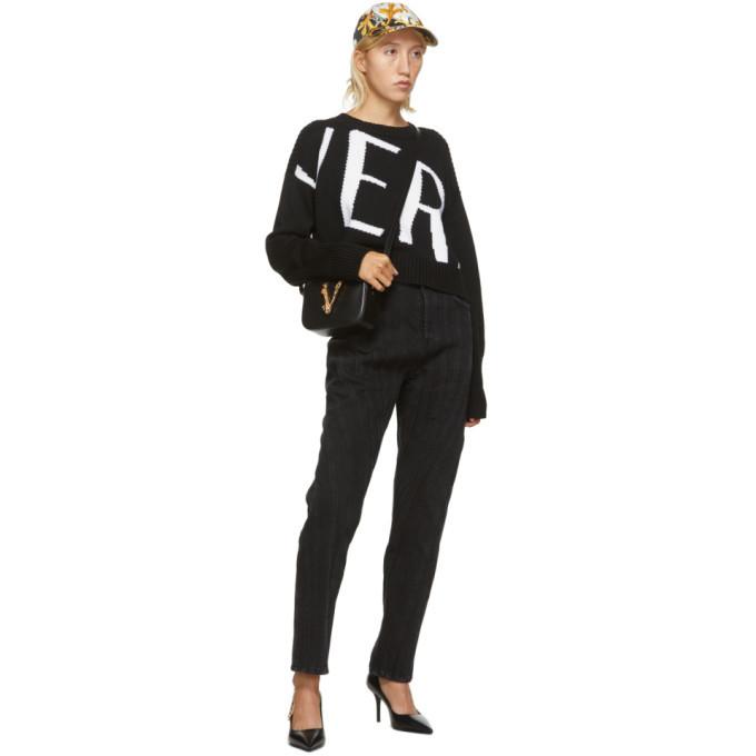 Versace Black Big Logo Sweater