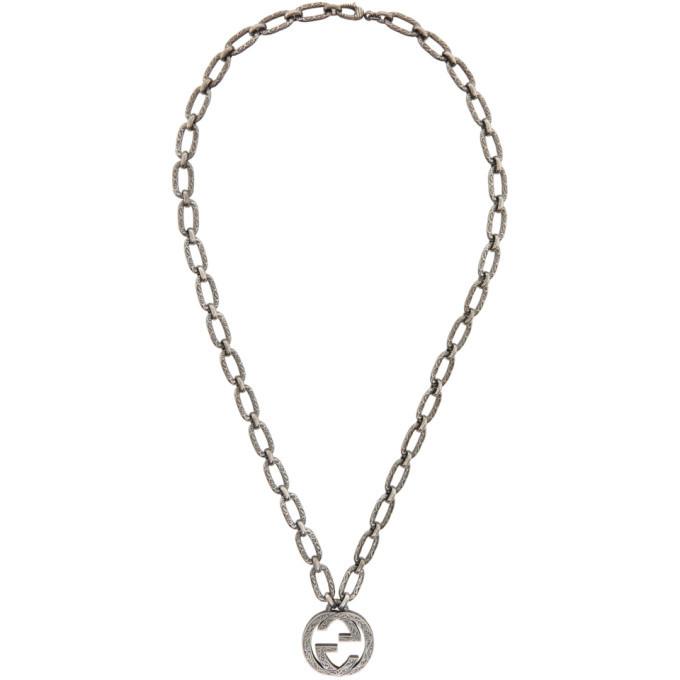 Photo: Gucci Silver Interlocking GG Necklace