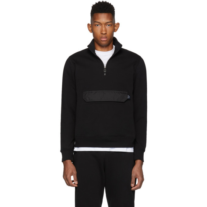 Photo: PS by Paul Smith Black Pull-Over Jacket