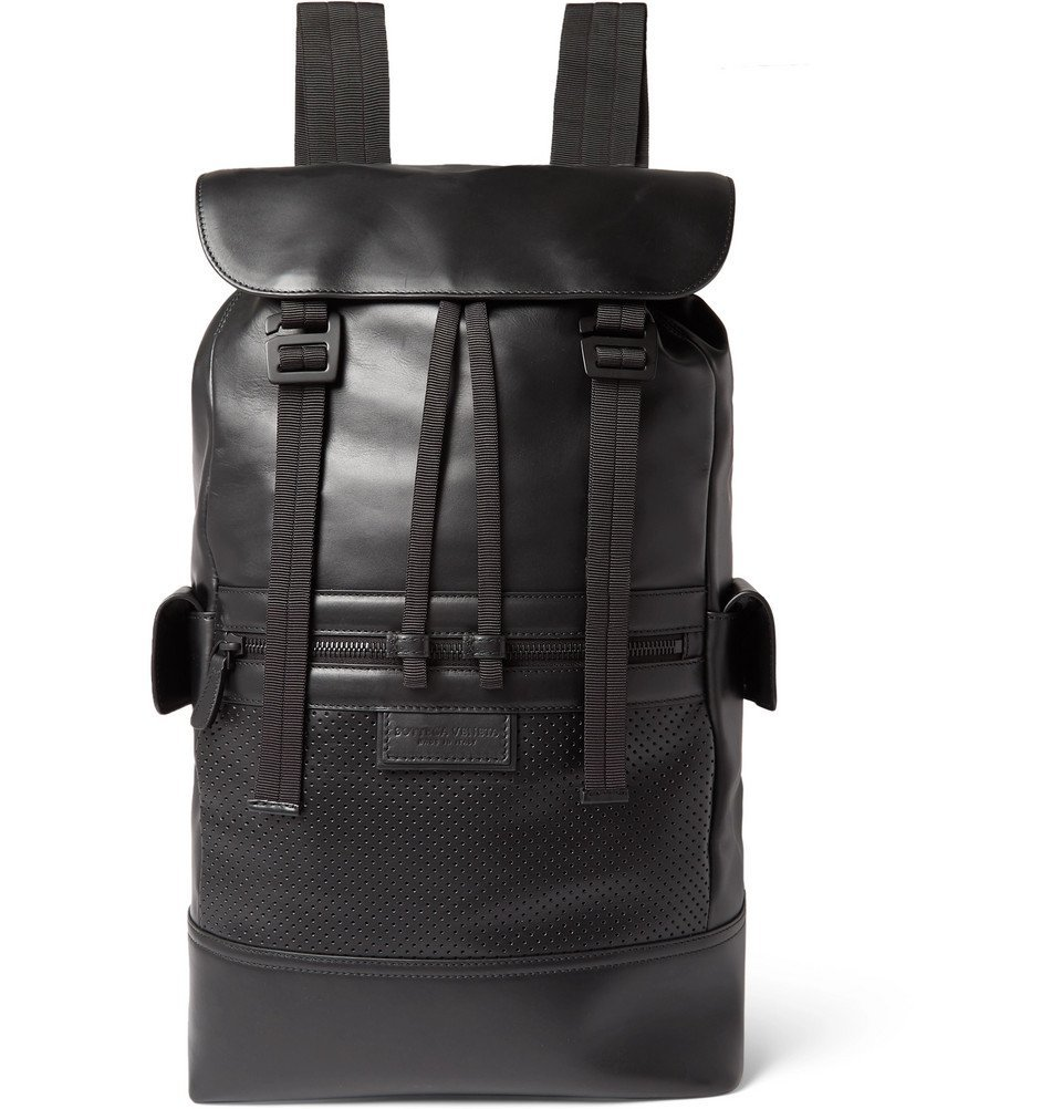 Photo: Bottega Veneta - Leather Backpack - Black