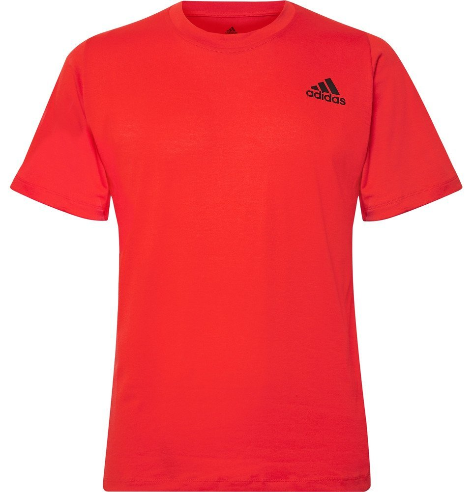 Photo: Adidas Sport - FreeLift Sport Prime Lite Climalite T-Shirt - Red