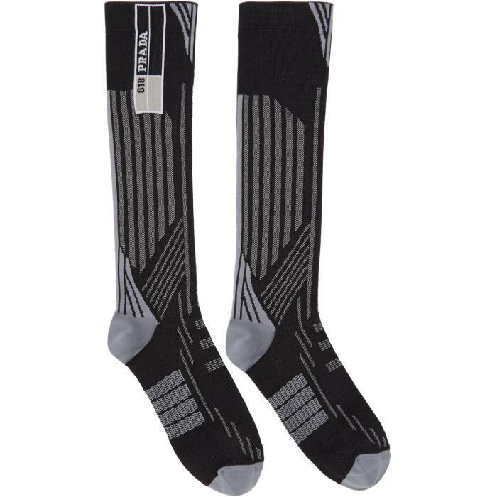 Photo: Prada Black and Grey Tech Socks