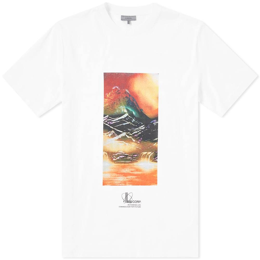 Photo: Lanvin Tourist Landscape Tee White