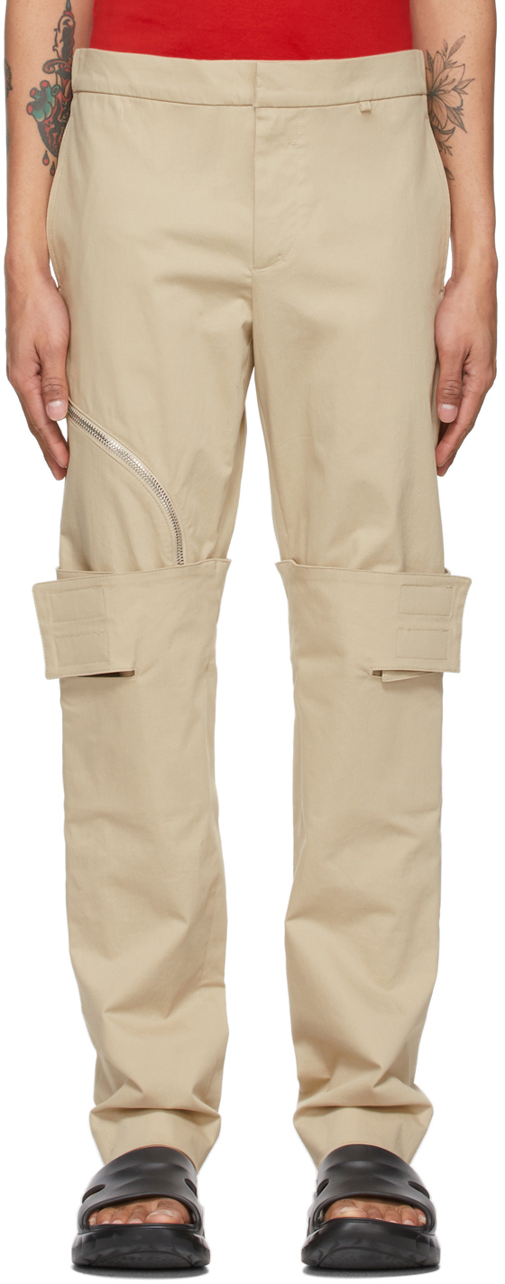 Photo: Givenchy Beige Layered Trousers