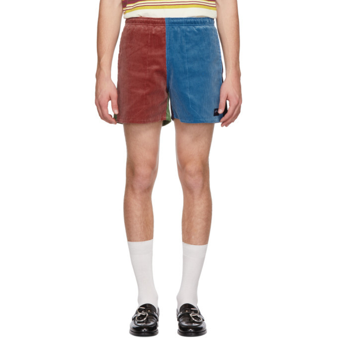 Photo: Noah NYC Multicolor Corduroy Winter Running Shorts