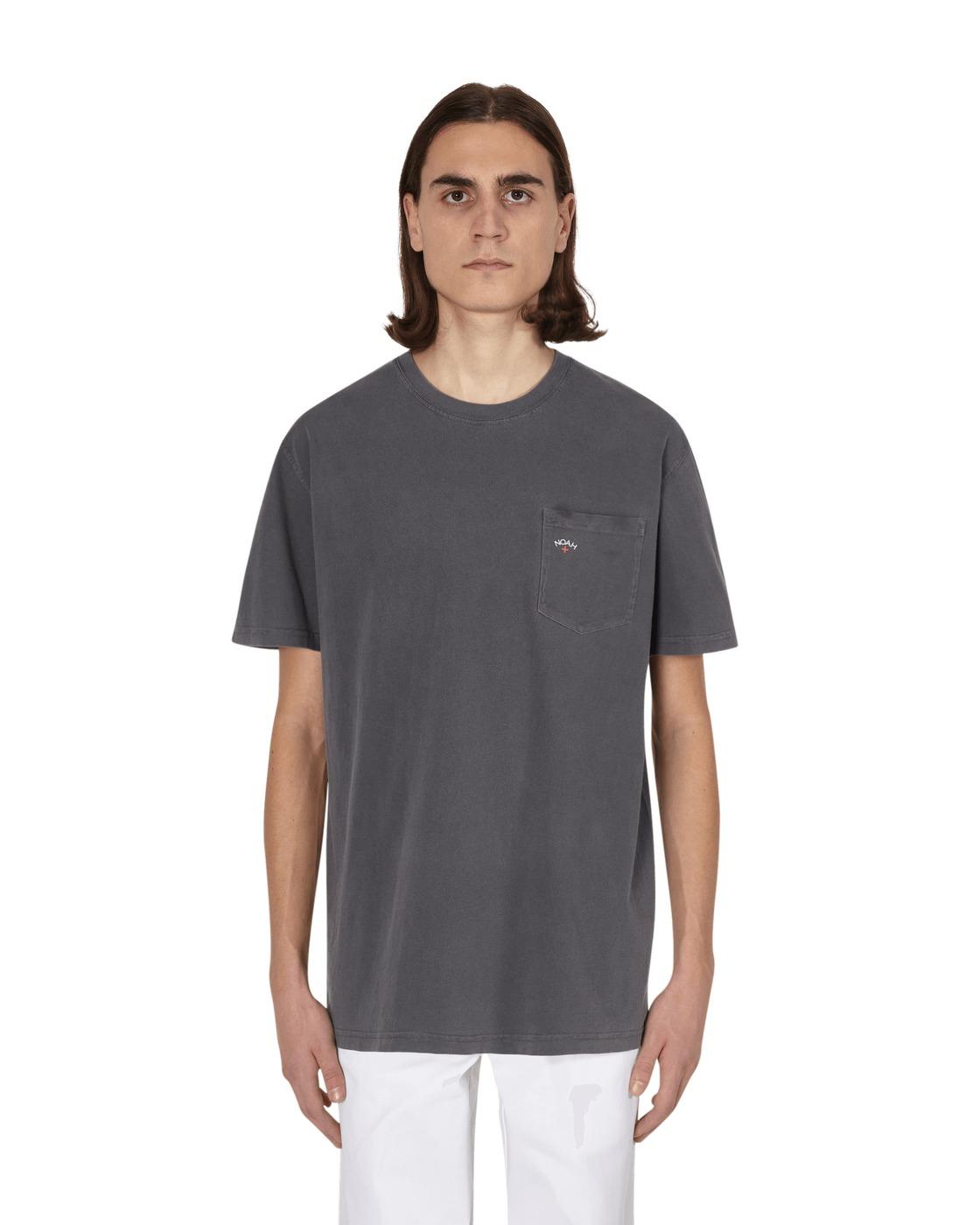Noah Core Logo Pocket T Shirt Pepper
