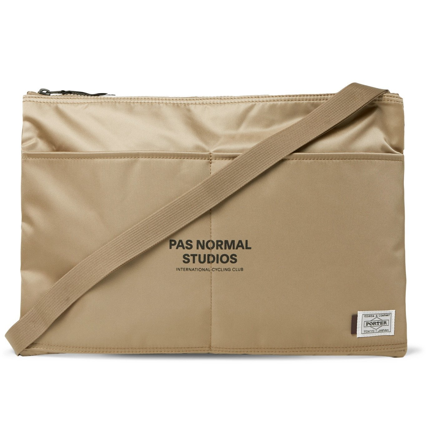 Photo: Pas Normal Studios - Porter-Yoshida & Co Musette Logo-Print Shell Messenger Bag - Neutrals