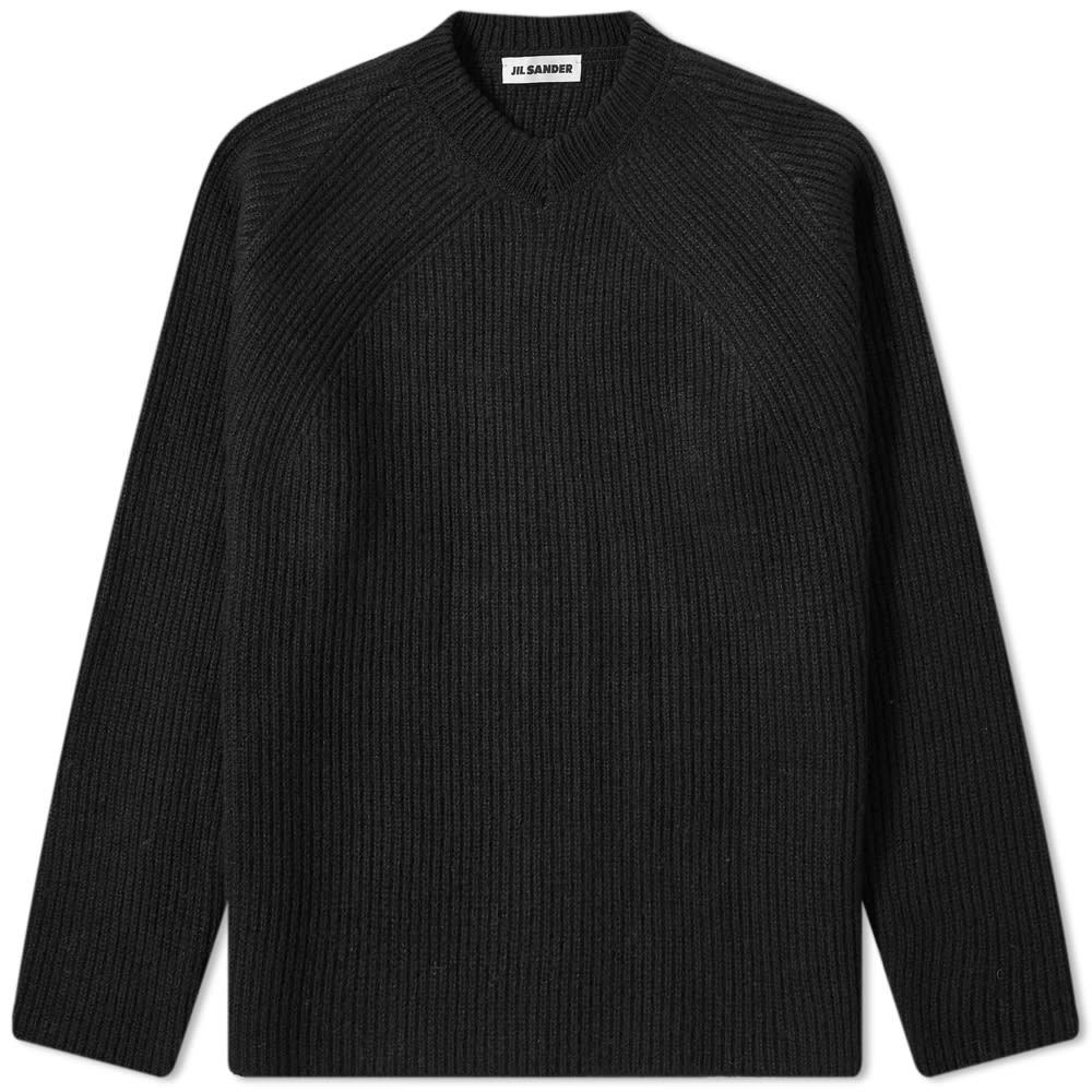 Photo: Jil Sander Ribbed Shetland Wool Crew Knit