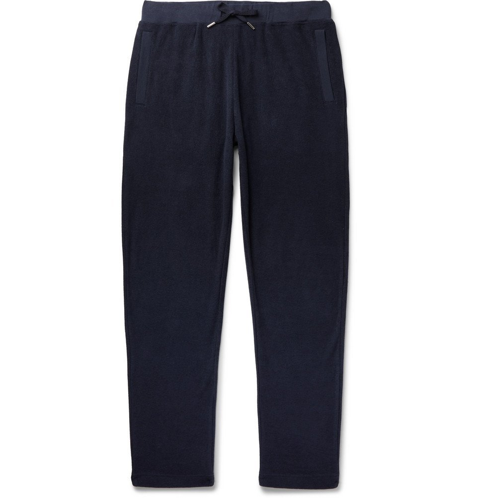 Photo: Sunspel - Slim-Fit Cotton-Terry Sweatpants - Navy