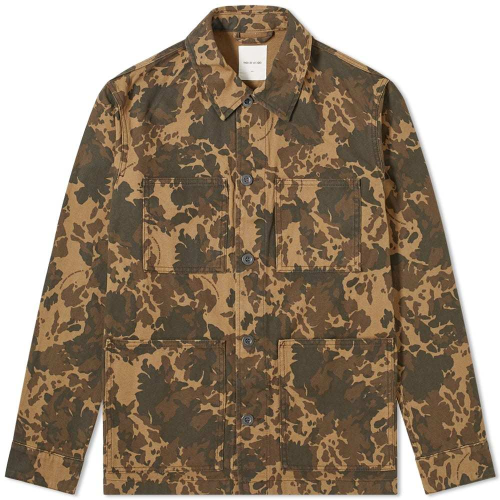 Photo: Wood Wood Axel Camo Overshirt