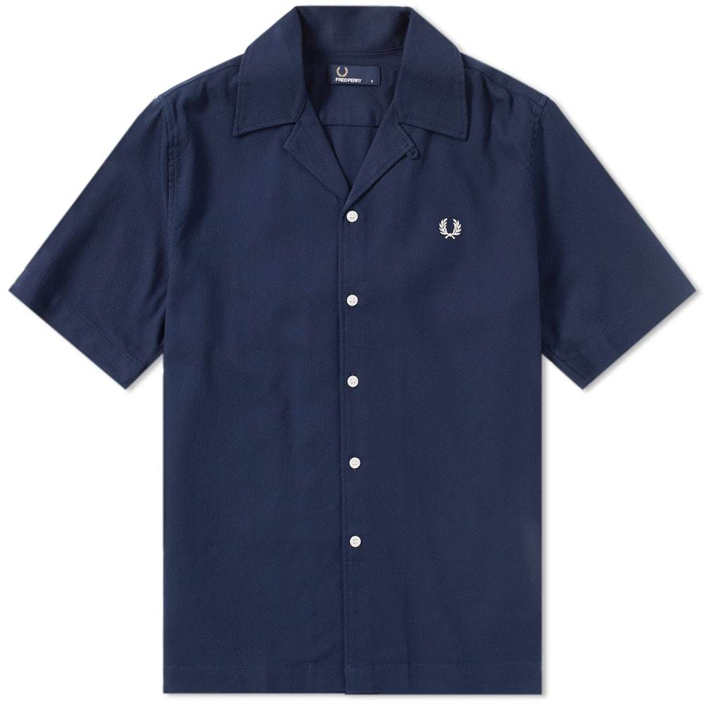 Photo: Fred Perry Woven Pique Vacation Shirt Blue