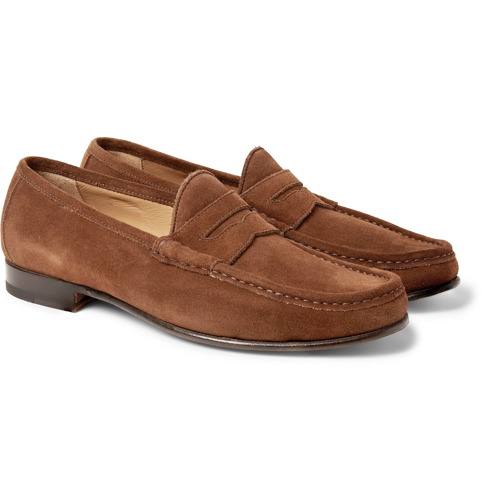 Photo: Yuketen - '70s Leather Penny Loafers - Brown