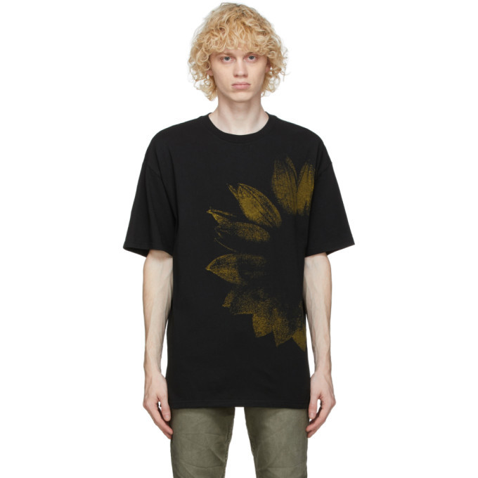 Ksubi Black and Yellow Dazed T-Shirt