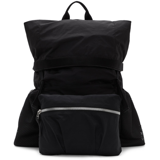 Photo: Bottega Veneta Black Nylon Medium Backpack