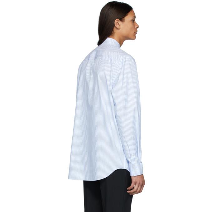 Versace White and Blue Striped Sunglasses Print Shirt