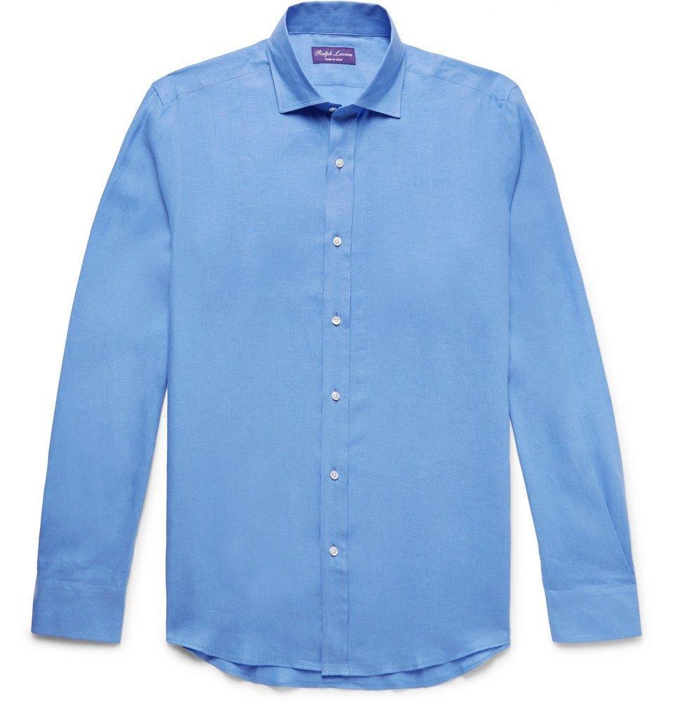 Photo: Ralph Lauren Purple Label - Linen Shirt - Blue