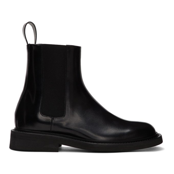 Photo: Bottega Veneta Black Spatso Chelsea Boots