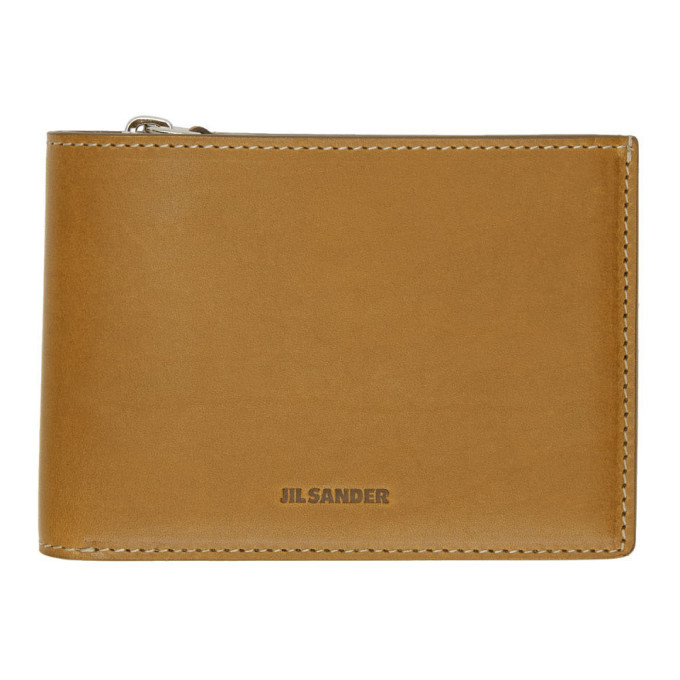 Photo: Jil Sander Brown Zip Pocket Wallet