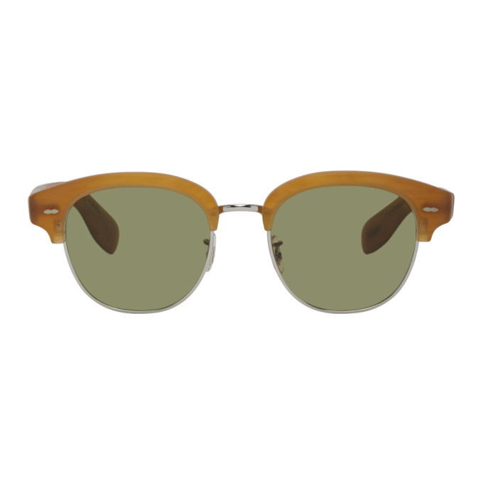 Photo: Oliver Peoples Tan Semi Matte Cary Grant 2 Sunglasses