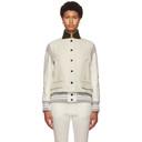 Sacai Off-White Wool Varsity Jacket