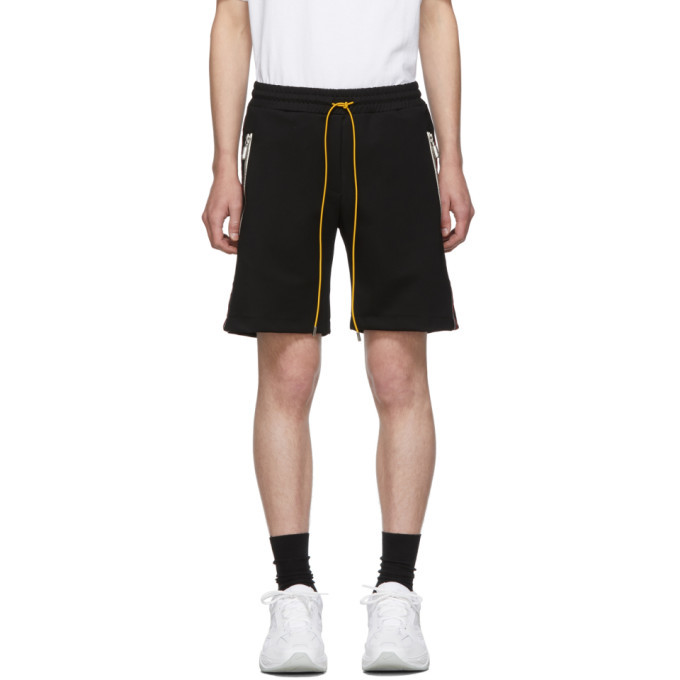 Photo: Rhude Black and Red Traxedo Shorts