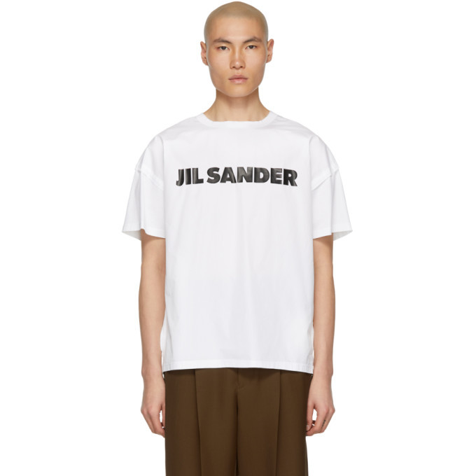 Photo: Jil Sander White Poplin Logo T-Shirt
