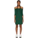 adidas Originals Green Off-The-Shoulder Dress