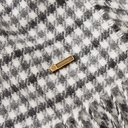 Dunhill - Fringed Checked Cashmere Scarf - Gray