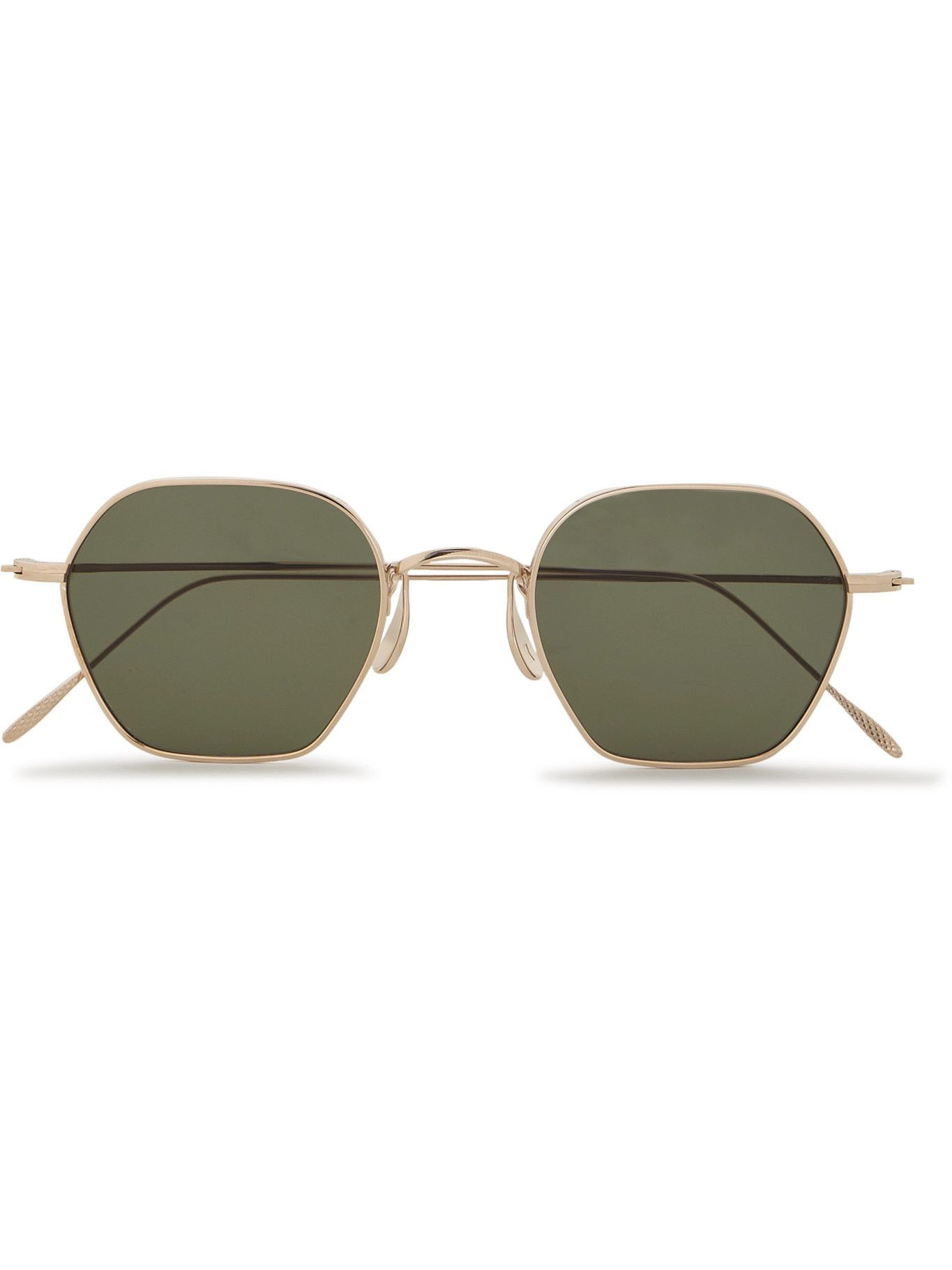 Photo: CUBITTS - Plimsoll Round-Frame Gold-Tone Sunglasses
