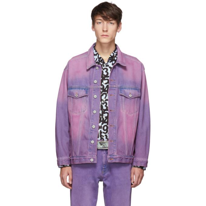 Martine Rose Purple Oversized Denim Jacket