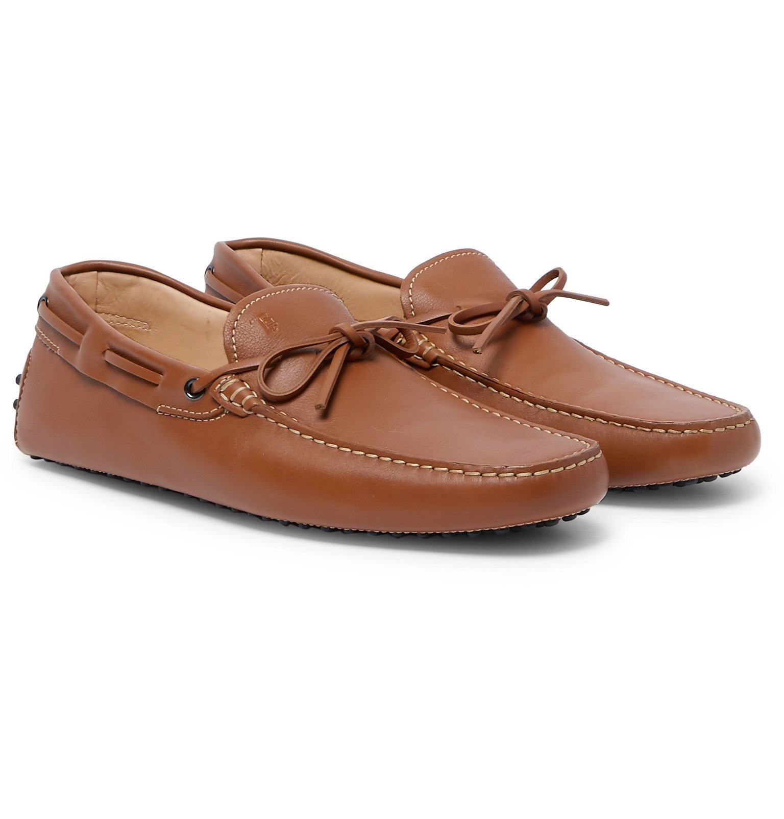 Tod's - Gommino Leather Driving Shoes - Brown