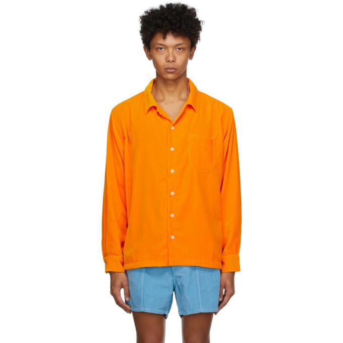 Photo: ERL Orange Velvet Shirt
