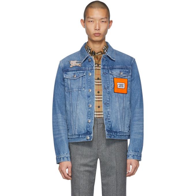 Photo: Burberry Blue Denim Graphic Casual Jacket
