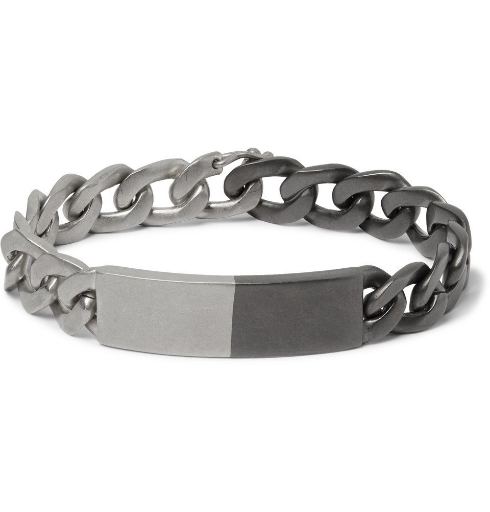 Photo: Maison Margiela - Two-Tone Sterling Silver Chain Bracelet - Silver