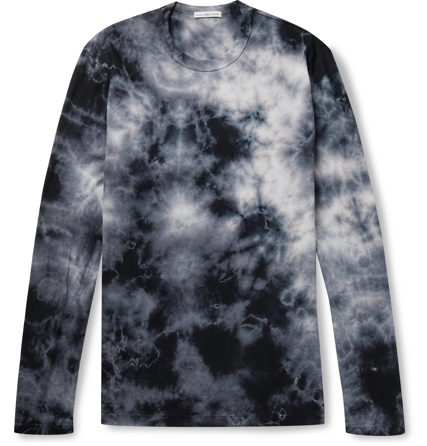 Photo: James Perse - Tie-Dyed Combed Cotton-Jersey T-Shirt - Blue