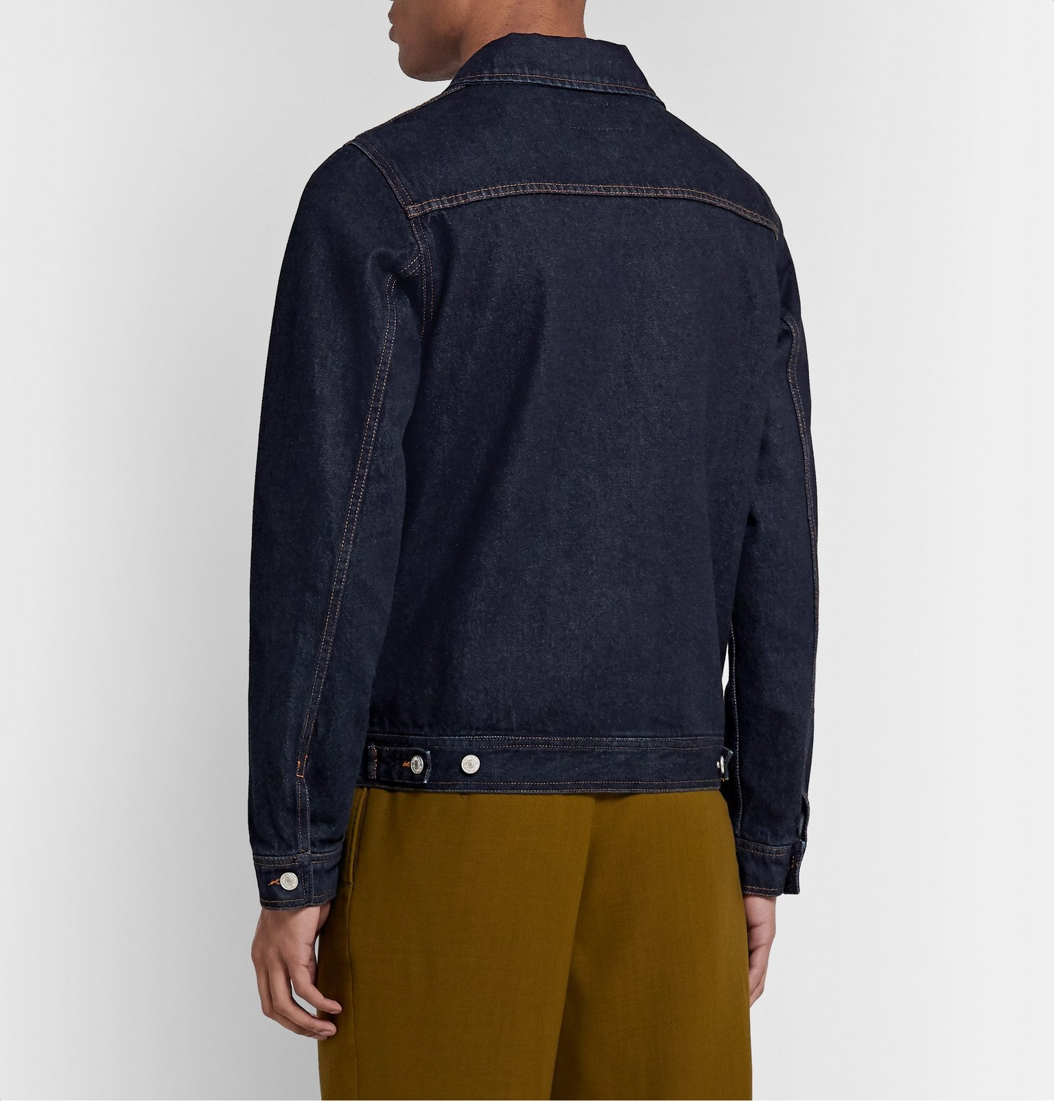 Officine Generale - Liam Raw Denim Jacket - Blue