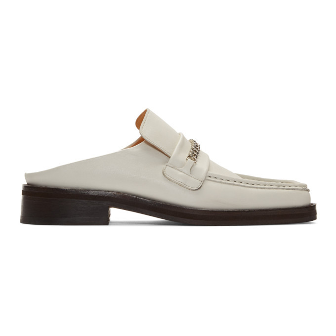 Photo: Martine Rose White Leather Slip-On Loafers