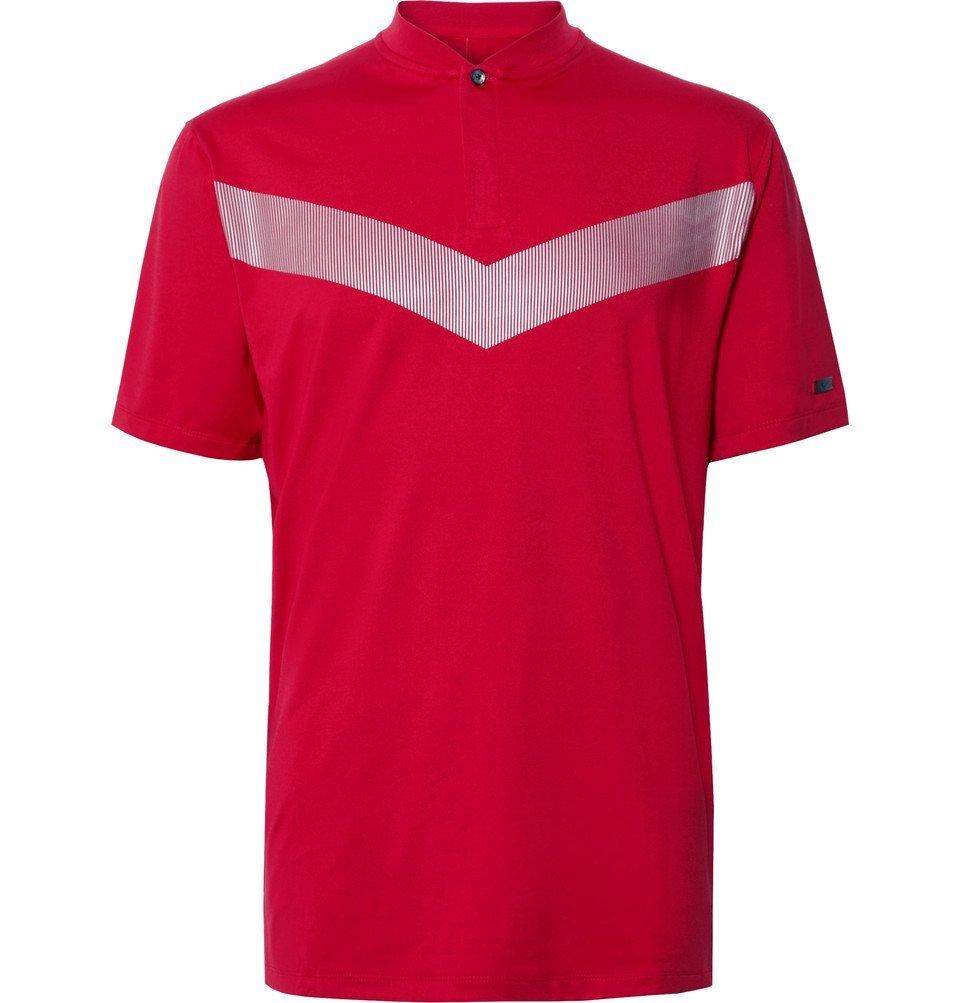 Photo: Nike Golf - Tiger Woods Vapor Printed Dri-FIT Polo Shirt - Red