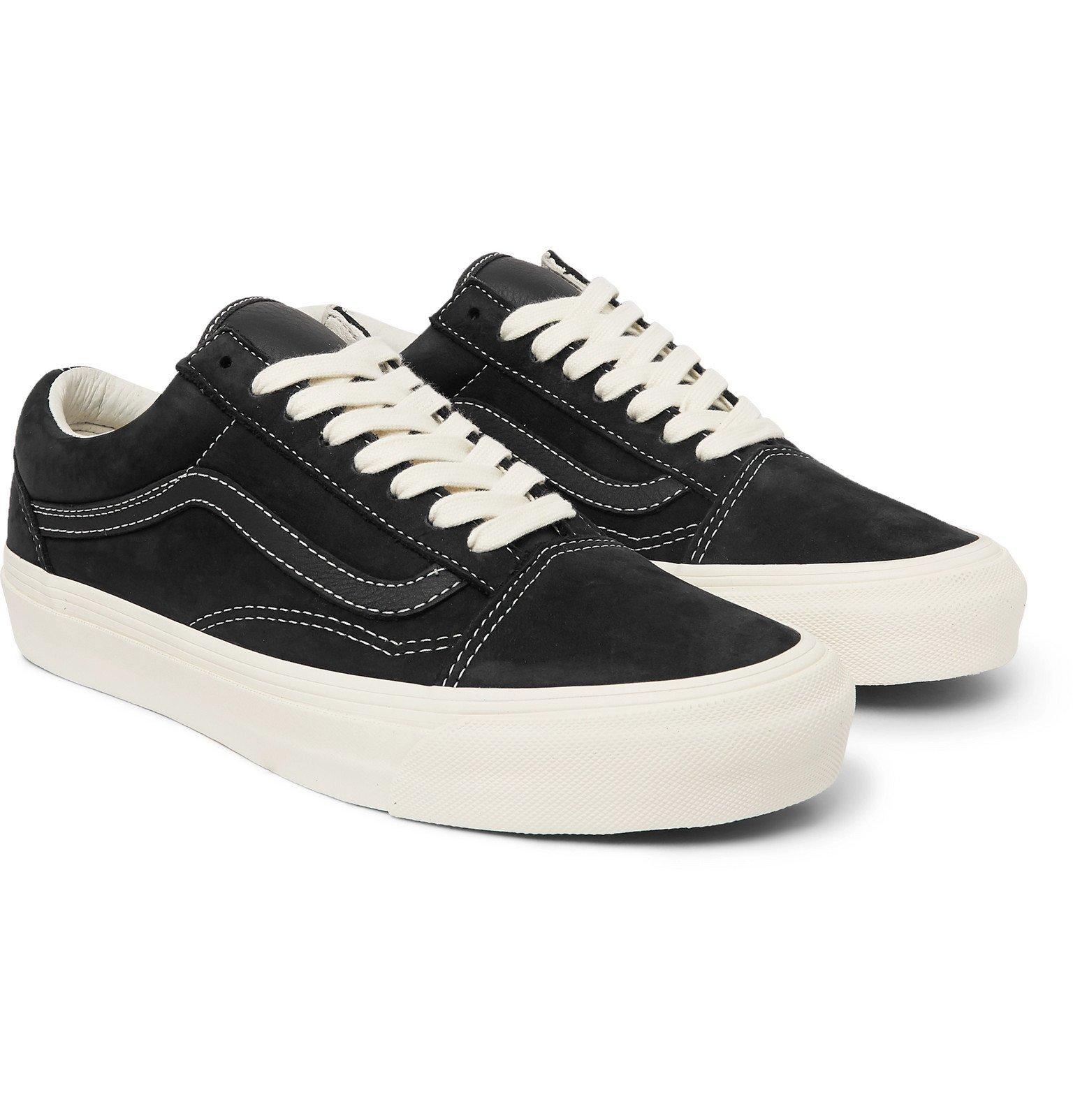 Photo: Vans - OG Old Skool LX Leather-Trimmed Nubuck Sneakers - Black