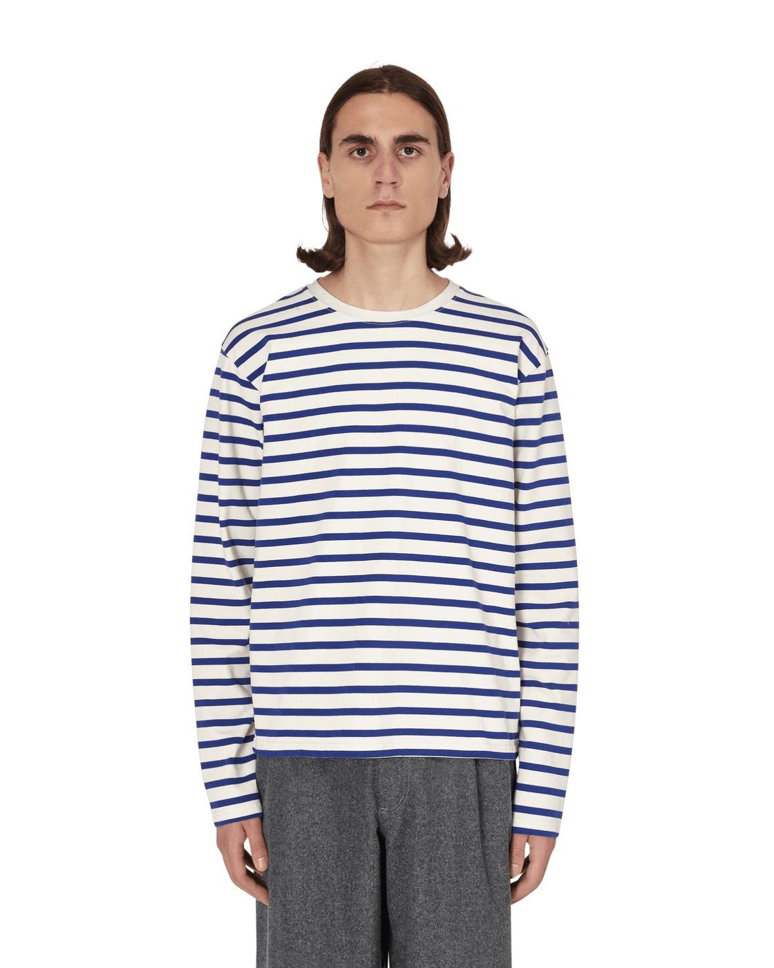 Kapital Smiley Elbow Patch Longsleeve T Shirt Ecrxblue