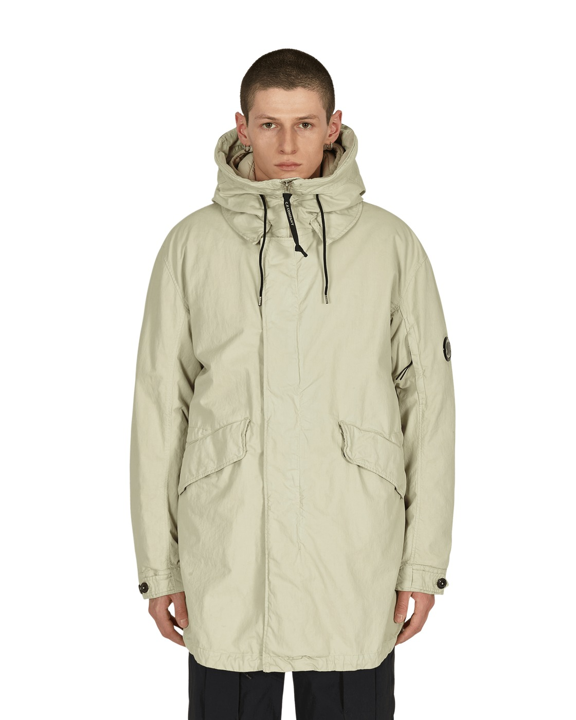 Photo: C.P. Company 50 Fili Parka Jacket Oyster Grey