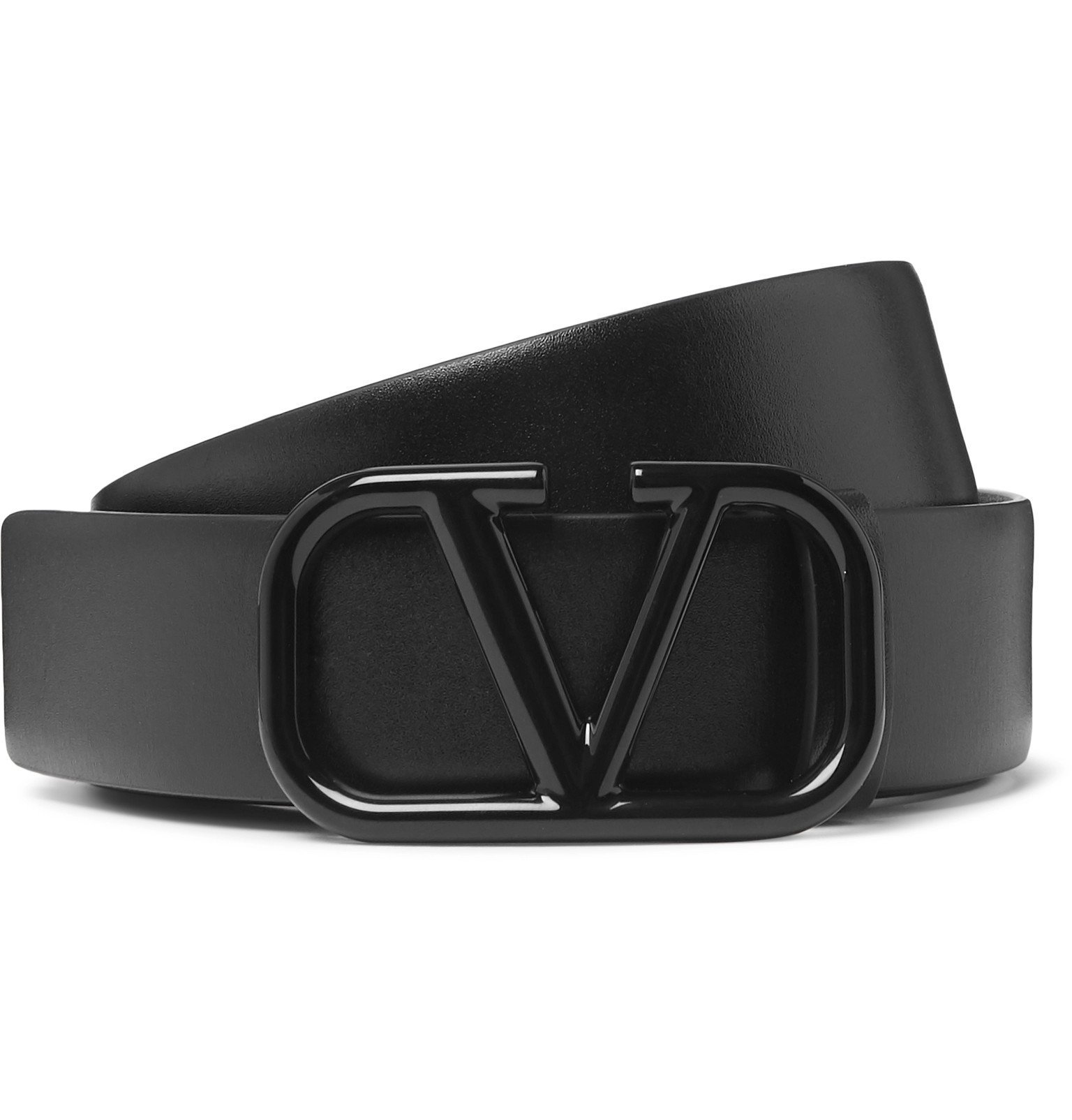 Photo: Valentino - Valentino Garavani 3cm Black Leather Belt - Black