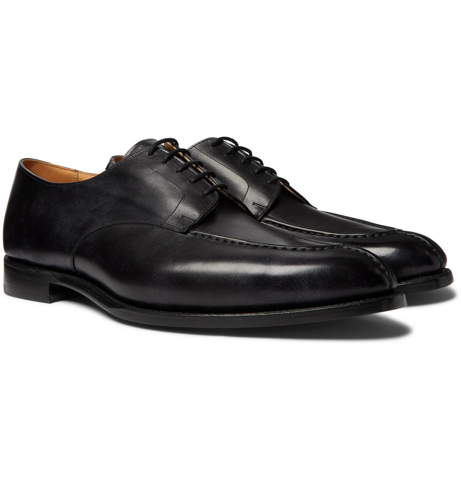 Photo: Tricker's - Abingdon Leather Derby Shoes - Black
